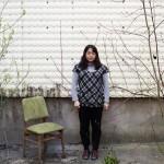 Chiharu Shiota im Garten ihres Berliner Ateliers