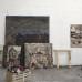 Armin Boehm: Materialbilder im Atelier