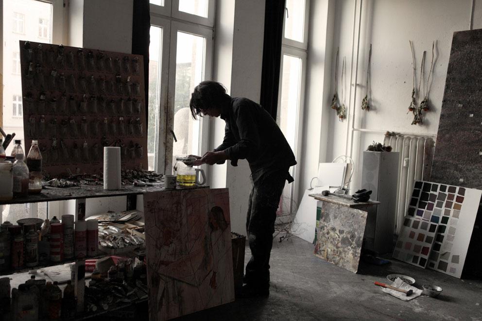 Armin Boehm im Atelier