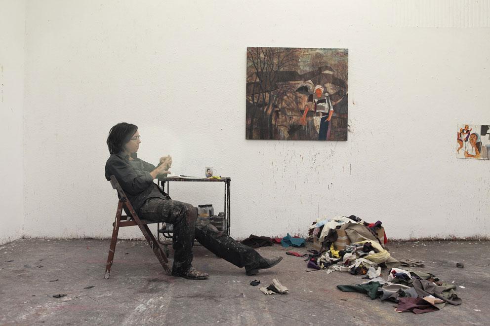 Künstler Maler Berlin armin boehm als künstler lebt in einem extremen wachzustand
