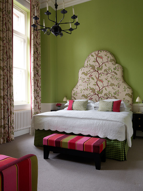 Each of the 52 bedrooms and suites are individually designed by Kit Kemp.