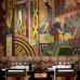 Charlotte Street Hotel: Oscar Bar with handpainted picture in 20ies style