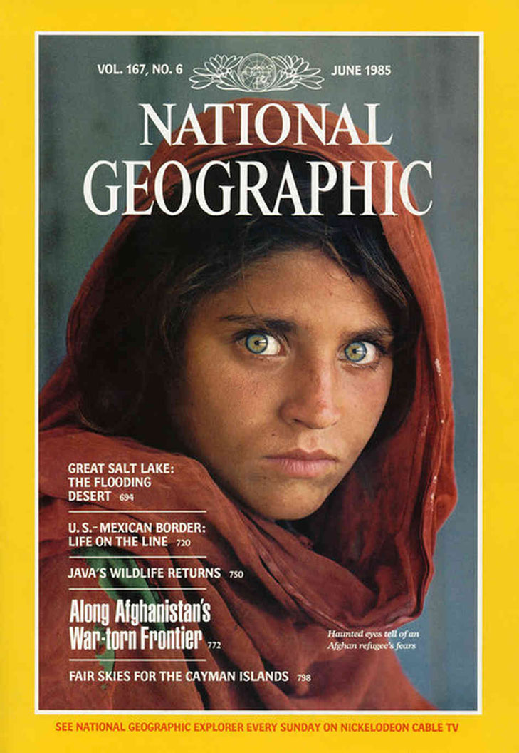 Steve McCurry. National Geographic. June 1985
