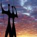Os Candangos (Os Guerreiros), escultura de Bruno Giorgi. Brasíli