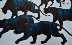 Franco Fasoli - JAZ - Vinculo Series - Acrylic on Canvas - 155 x 100 cm -  2014 copyright Franco Fasoli JAZ