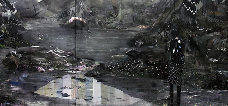 Kevin A Rausch: Silence Is Closer: Triptychon 195x450xm 2013
