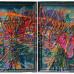 Jigger Cruz: Like A Star Hope Fell From The Heavens Below 2014. Oil on canvas on wood 132 × 224 cm