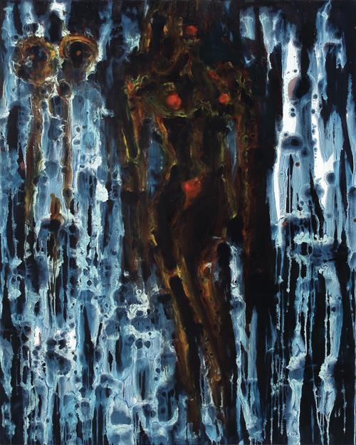 Julian Khol: ohne Titel. 200x160cm. Ö auf Leinwand 2014