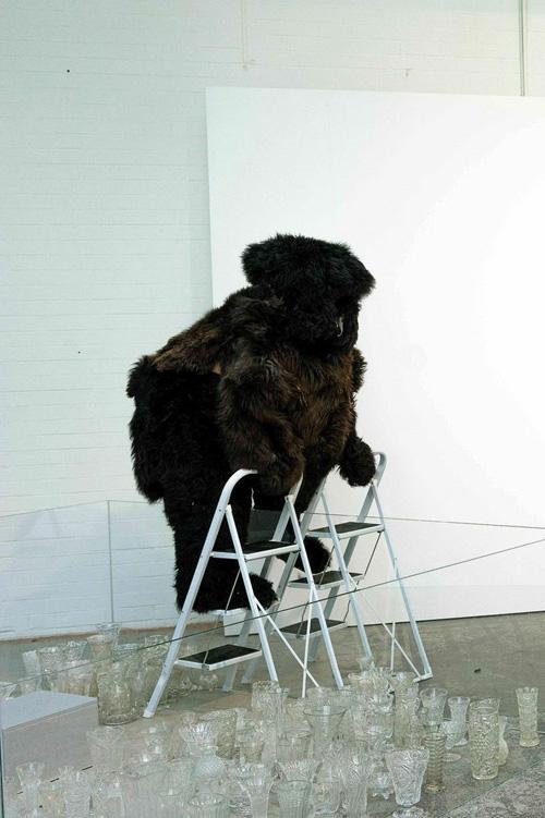 Performance auf der abc bei PSM Galerie