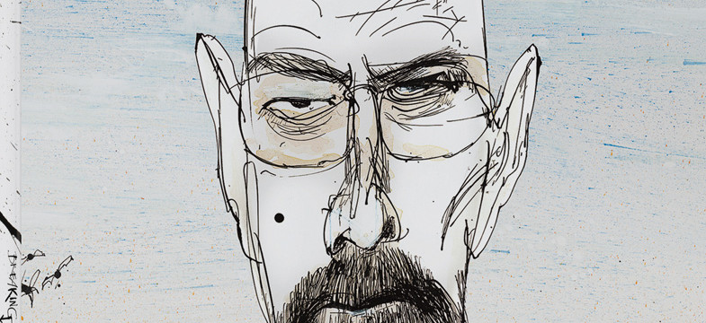Illustrator Ralph Steadman in der Breaking Bad Art Gallery