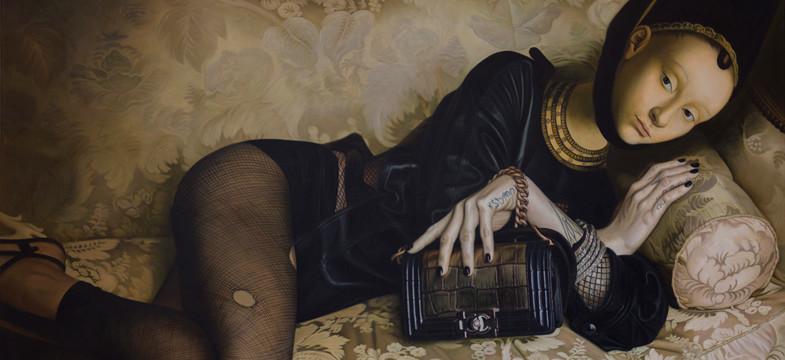 JANNIS MARKOPOULOS malt Popstars im Stil der Renaissance
