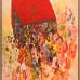 Christa Dichgan: Rotes Portemonnaie, 1990, 160x120cm, Öl auf Leinwand