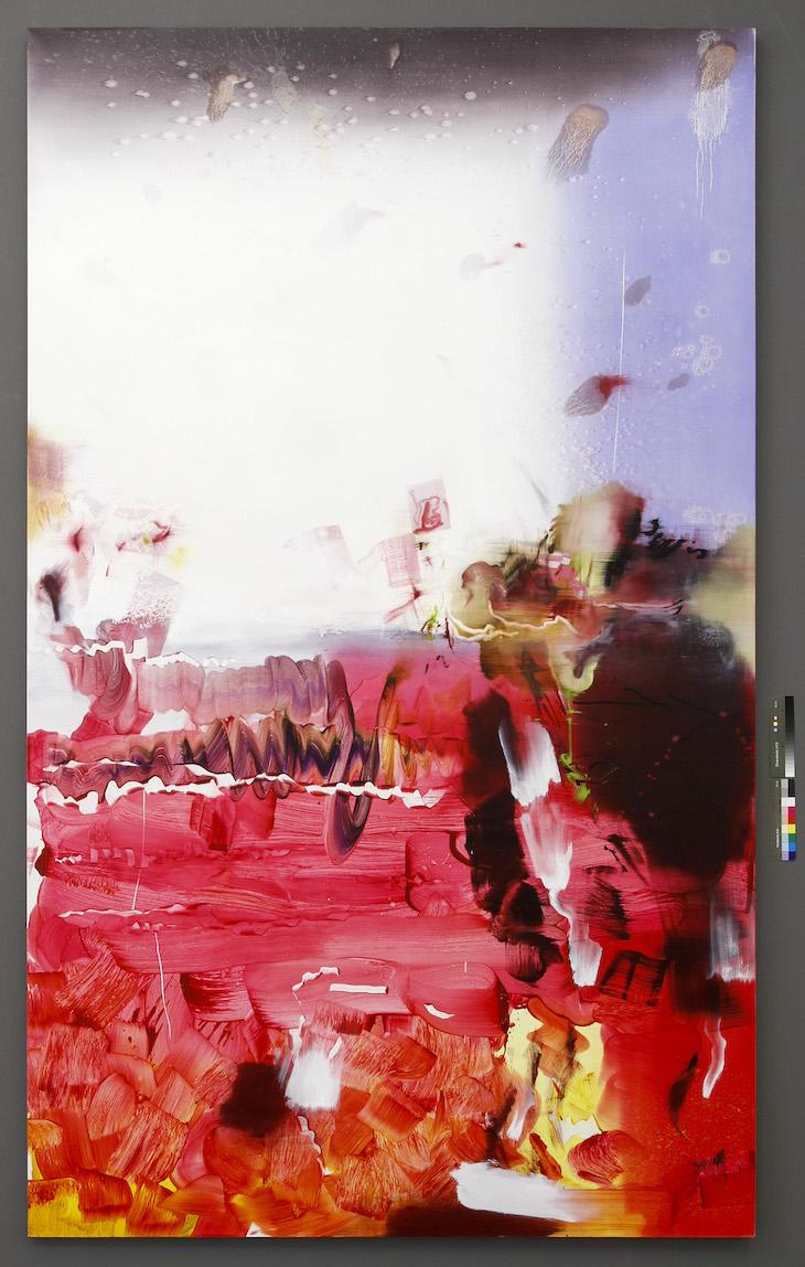 Florin Kompatscher Ohne Titel 2014, Öl auf Leinen, 300 x 180 cm