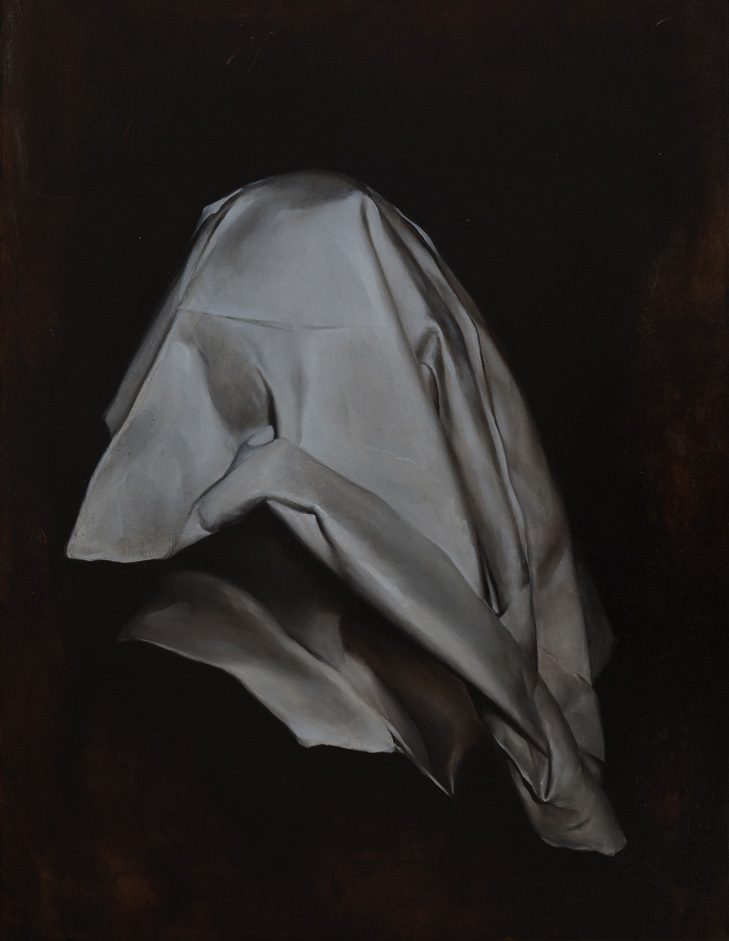 Radu Belcin: Shining in the Shadow 3, oil on linen, 65x50cm, 2015