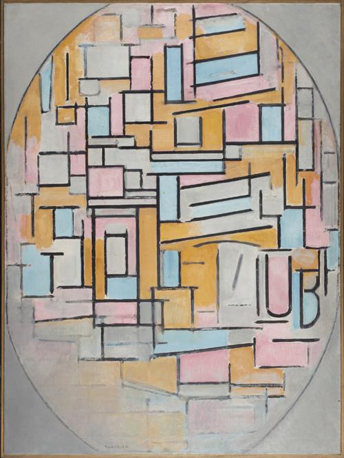 Piet-Mondrian-Oval-mit-Farbflaechen