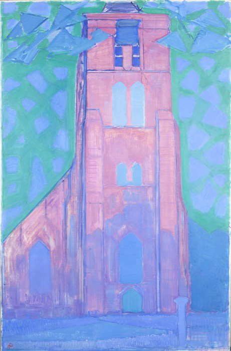 Piet-Mondrian--Zeeländischer-Kirchturm,-1911
