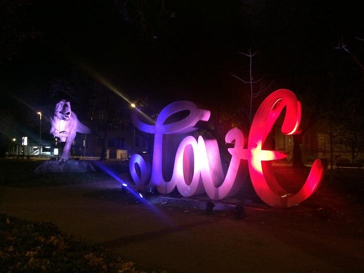 Love/Hate Installation by Mia Florentine Weiss