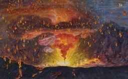 August Kopisch, The Crater of Vesuvius and the Eruption of 1828, 1828
