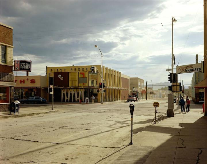 Stephen Shore, 2nd Street East and South Main Street, Kalispell, Montana, 1974; courtesy of the artist