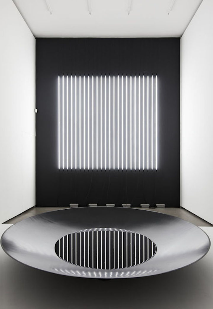 Carsten Nicolai, Reflector distortion 2016, Exhibition view Eigen+Art, Berlin, 2016