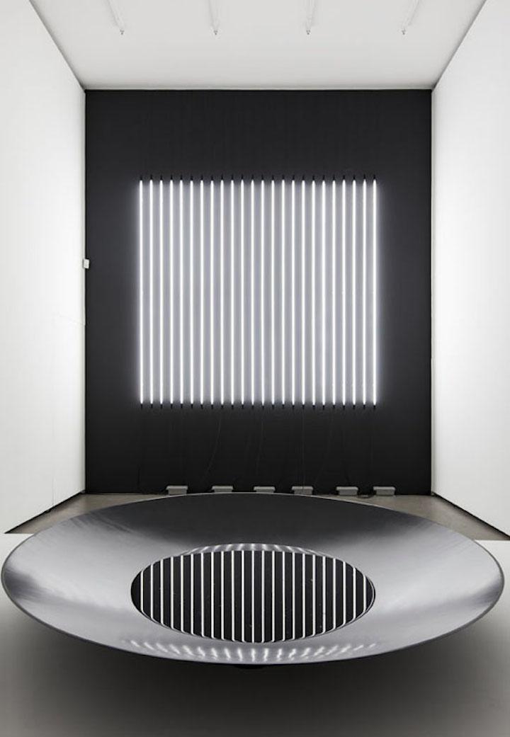 Carsten Nicolai, Reflector distortion 2016, Exhibition view Eigen+Art, Berlin, 2016