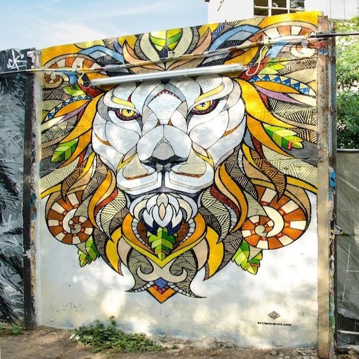 Andreas Preis Mural LIONHEAD YAAM Club Berlin