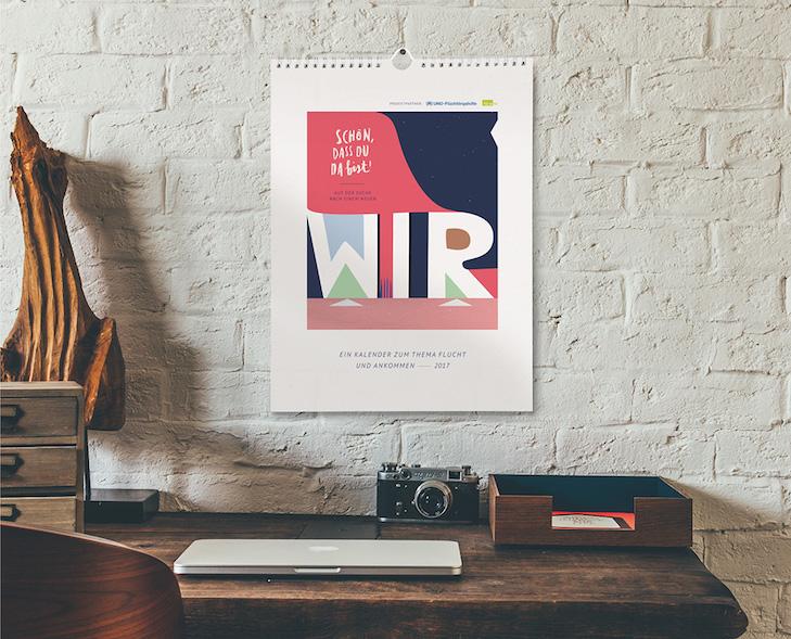"""Für den Kalender setzten sich 12 Künstler mit dem Thema """"Auf der Suche nach einem neuen WIR"""" auseinander."""