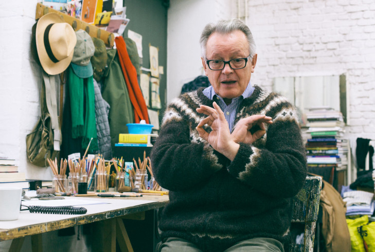 Bernd Koberling in seinem Atelier, Foto: Katrin Leisch