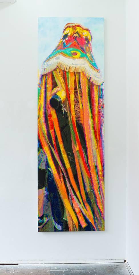 Römer + Römer Schaumwein-Leuchtkšrper, 290 x 90 cm, oil on canvas, 2015 Fotograf: Eric Tschernow Courtesy Galerie Michael Schultz, Berlin