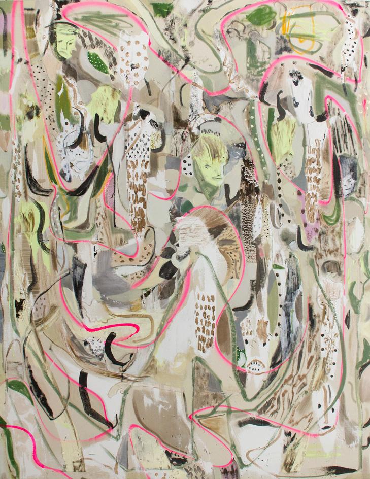 Kevin A Rausch: Every dream a trap | 2017, Mischtechnik / Leinwand, 200 × 150 cm