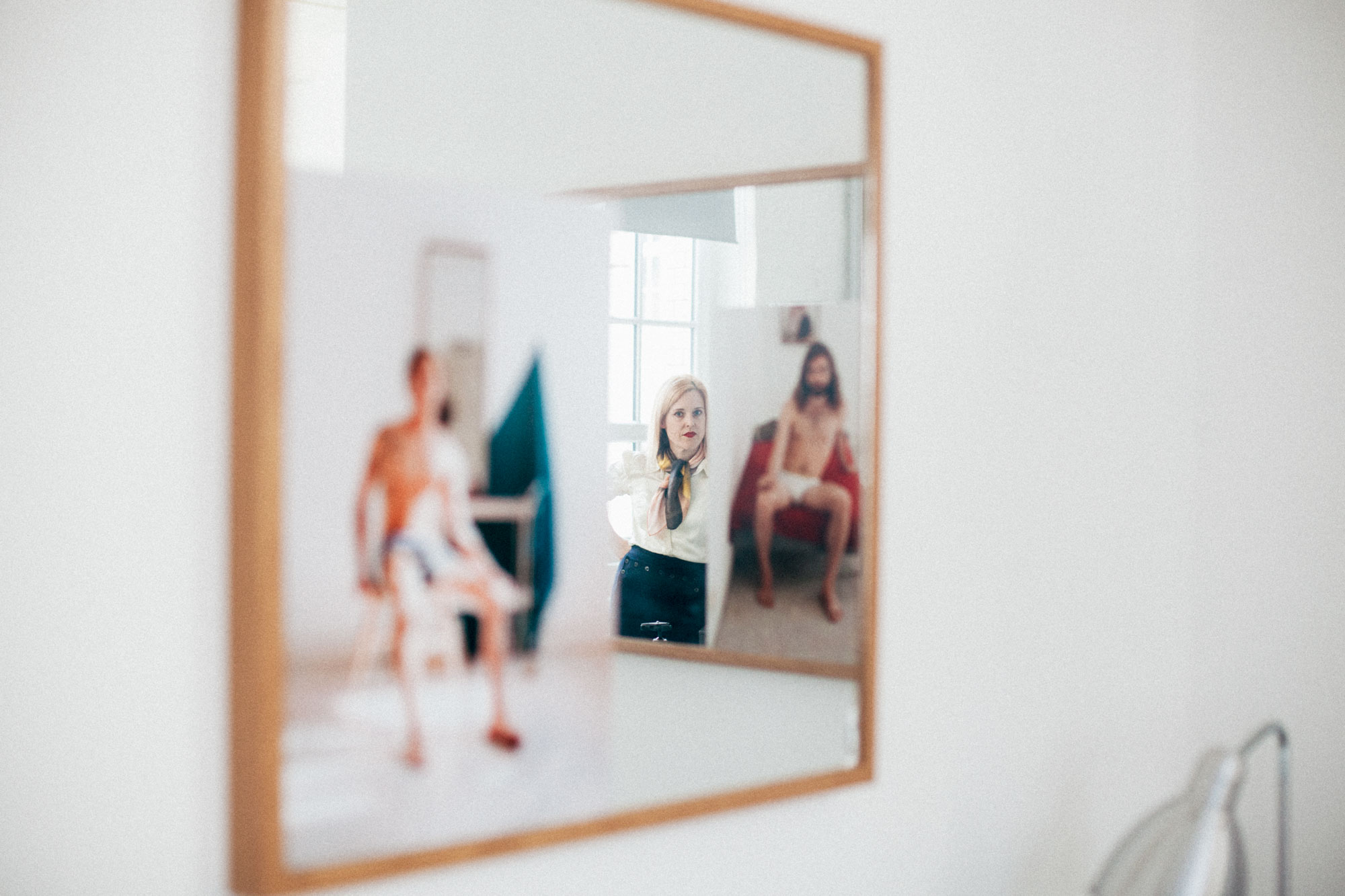 Mirrors have made frequent appearances in Lyndal Walkers workMirrors have made frequent appearances in Lyndal Walkers work