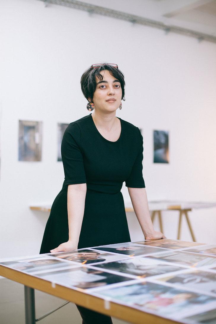 Shubigi Rao in her studio space at Künstlerhaus Bethanien, photo: Kathrin Leisch