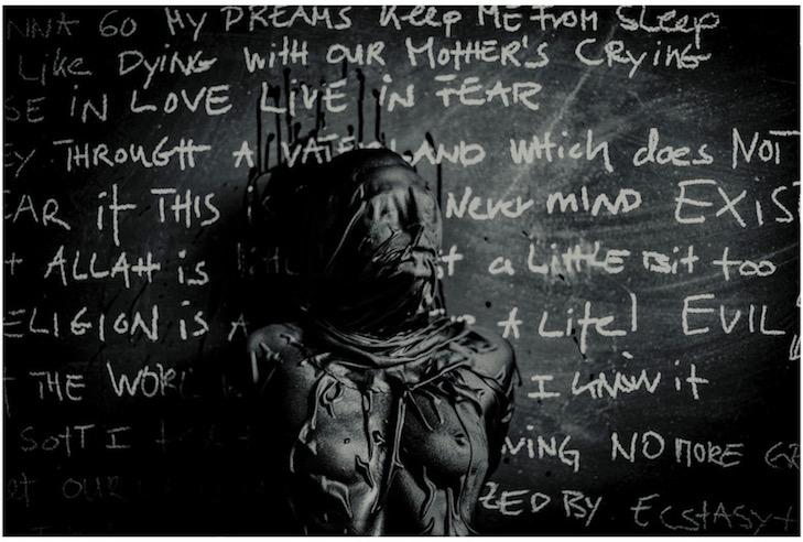 Lies, 2017, Burning Burka Performance