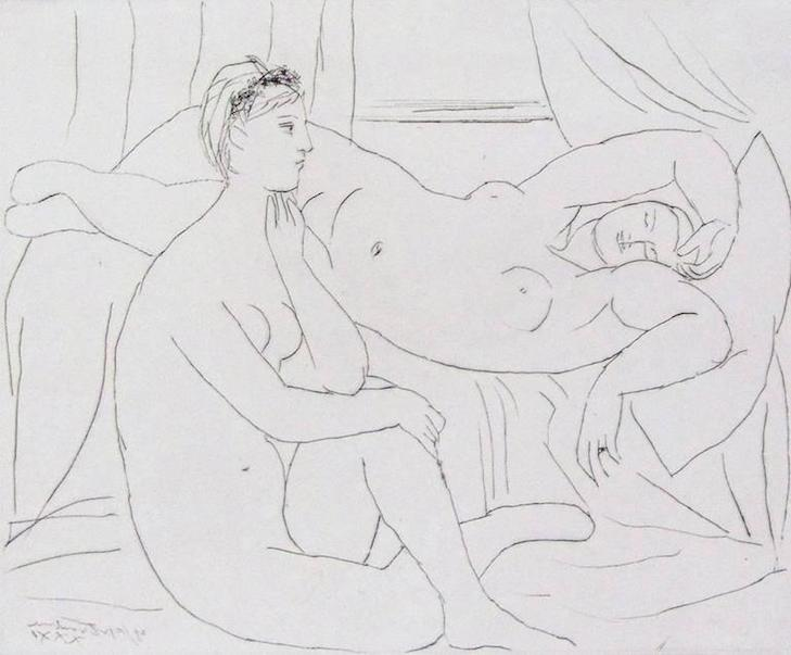 Sketch of a woman by Picasso from 1931