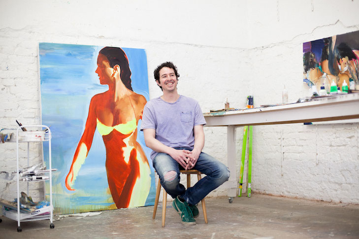 Daniel Lannes in his Berlin Studio by Kathrin Leisch