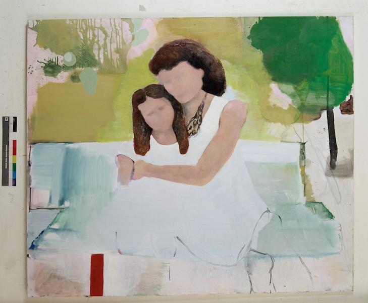 7.mae e filha,2007,140x165cm