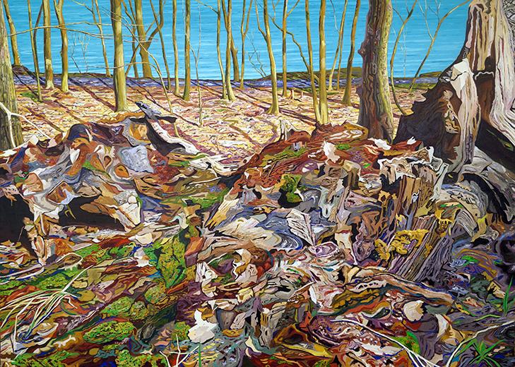 KD_Lichter Wald über der See, 2017, oil on canvas, 150x210cm