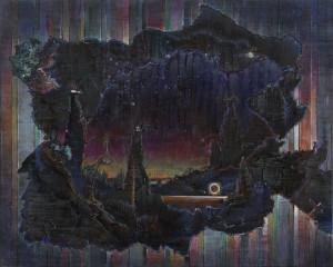 Maik Wolf, Ioschlot Prognostikon 2, 2015, Öl auf Leinwand.
