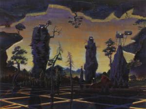 Maik Wolf, Ioschlot Prognostikon 1, 2015, Öl auf Leinwand.