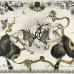 Diamantis Sotiropoulos - Fighting Fauns, 2007, Tusche, Glitzer auf Papier, 157 x 260 cm