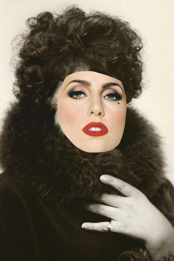 Sabrina Jung, aus der Serie Schöne Frauen, 2011, 40 x 60 cm, 12-Farb-Pigmentdruck, Collage