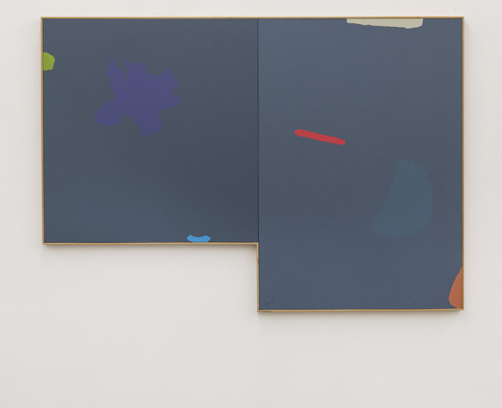 Odyssey, 1987 I Acrylic on canvas, 2 parts 154,5 x 221 cm