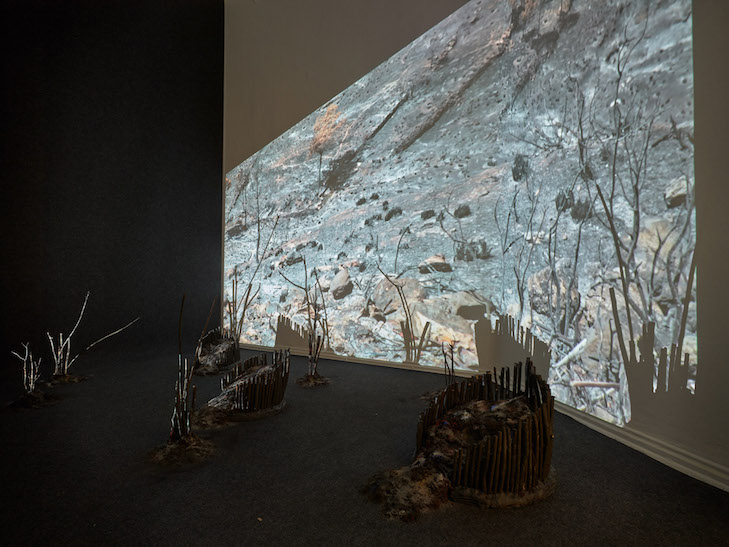 Fire Point, 2018: 3 installation views, Kunstraum Kreuzberg/Bethanien, (c) Eric Tschernow.