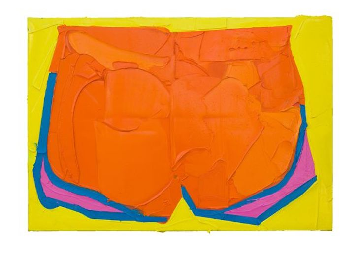 Martin Wehmer, ORANGEPANTS, 2016, Öl auf_Leinwand 70 x 100 cm