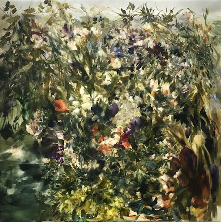Sarah McRae Morton, The Last Orangerie, after Kaethe Kollwitz. 2018, Oil on canvas, 100 x 100 cm.