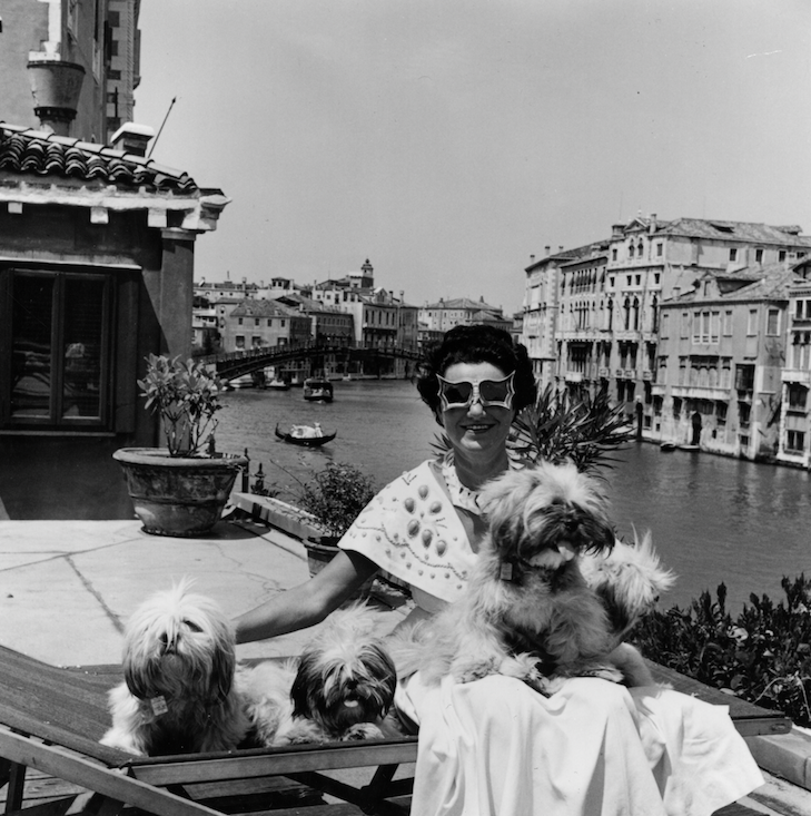 David Seymour «CHIM»  Mrs Peggy Guggenheim Venice, 1950 (c) /David Seymour Estate/Magnum Photos 