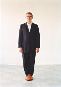 Axel Lieber, Sockel mit Bildhauer, 2002 Foto: Susanna Hesselberg, Malmö