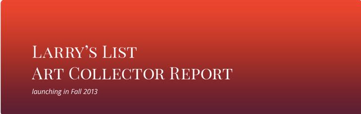 Larry's List art collector report